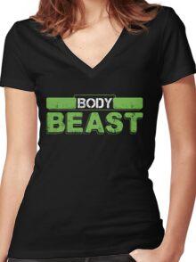 Body Beast Women's Fitted V-Neck T-Shirt