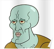 Handsome Squidward Poster