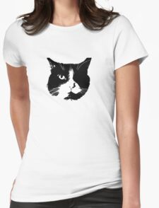 Kitten: The Stencil! Womens Fitted T-Shirt