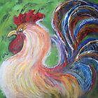 Rainbow Rooster by Pam Wilkie