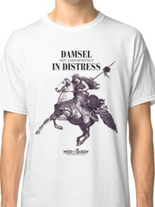 Damsel Not Even Remotely In Distress - Black Ink Classic T-Shirt