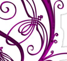 ANTIQUE FILIGREE LETTER OPETH - Shiny Purple Sticker