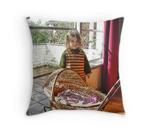 """Me and My Doll"" Throw Pillow"