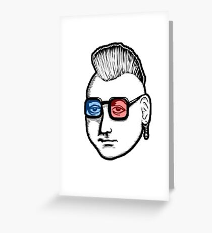 Captain Punk 3D Greeting Card