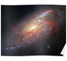 Hubble Space Telescope Print 0017 - Galaxy M106  - hs-2013-06-a-full_jpg Poster