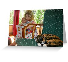 """""""Me and My Doll"""" #2 Greeting Card"""