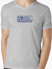 the Paper Cutter Blue Mens V-Neck T-Shirt