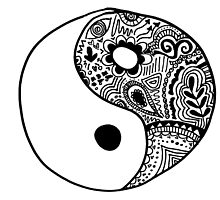 Hippie Yin-Yang Design by alexavec