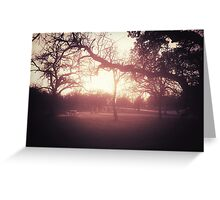 Sunset Picnic Greeting Card