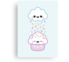 Cloud with Cupcake Canvas Print
