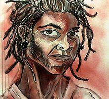 08/08/08 Self-portrait (Drawing)- by Robert Dye