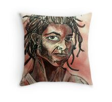 08/08/08 Self-portrait (Drawing)- Throw Pillow