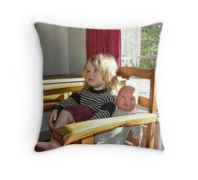 """Me and My Doll"" #3 Throw Pillow"