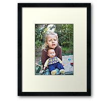 """Me and My Doll"" #4 Framed Print"