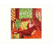 Sylvaine Rouge Art Print