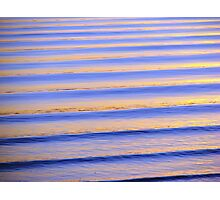 Blue & Orange Sunset Ripples Photographic Print