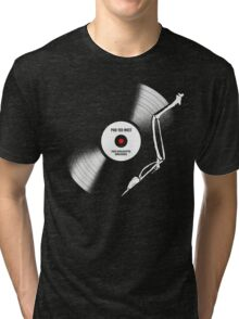 post-apocalyptic birdsongs in 33 rpm Tri-blend T-Shirt