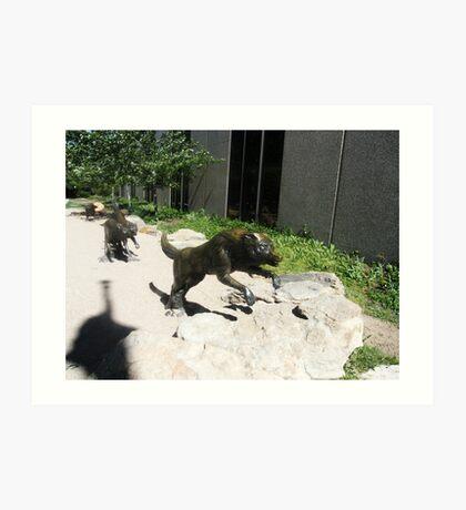 Wolf  sculptures Art Print
