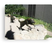 Wolf  sculptures Metal Print
