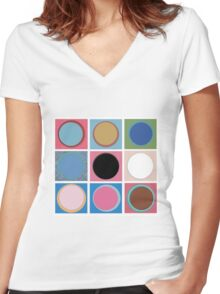 Warhol Dots Women's Fitted V-Neck T-Shirt