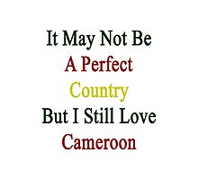 It May Not Be A Perfect Country But I Still Love Cameroon  Photographic Print