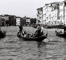 Singing Gondolas by Venice