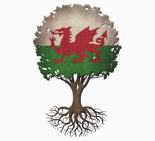 Tree of Life with Welsh Flag T-Shirt