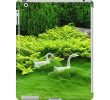 Geese in a Sea of Green - Hunter Valley Gardens iPad Case/Skin