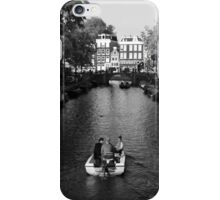 Boating On The Canals Of Amsterdam iPhone Case/Skin