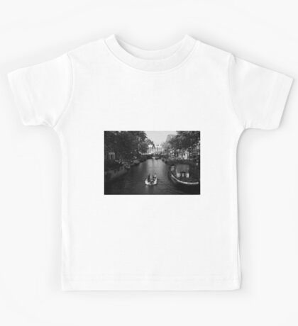 Boating On The Canals Of Amsterdam Kids Tee