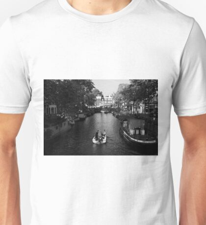 Boating On The Canals Of Amsterdam Unisex T-Shirt