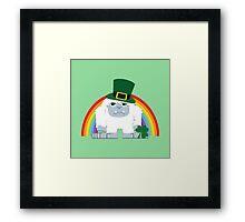 Cute Yeti Leprechaun Framed Print