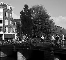 Canal Bridge In Amsterdam by aidan  moran