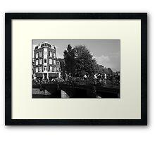 Canal Bridge In Amsterdam Framed Print