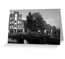 Canal Bridge In Amsterdam Greeting Card