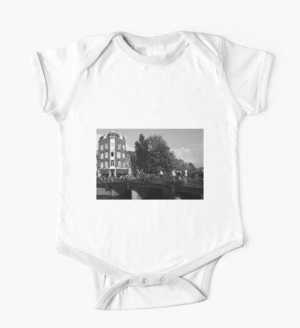 Canal Bridge In Amsterdam One Piece - Short Sleeve
