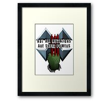 Not all mutations are super powers Framed Print