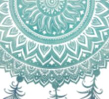 Aqua Ombre Dream Catcher Sticker