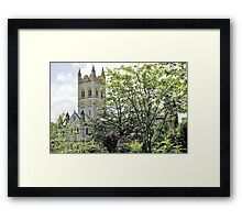 Abbey Through The Trees Framed Print