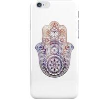 Fatima Hand Hamsa Purple Orange iPhone Case/Skin