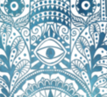 Oceanic Fatima Hand Hamsa  Sticker