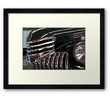 Chrome over Black Framed Print