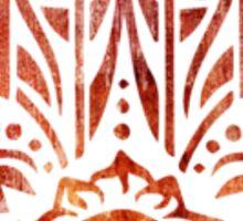 Orange Fatima Hand Hamsa Sticker