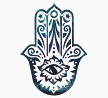 Blue Fatima Hand Hamsa  by ohdeer