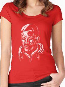 Shepard - Mass Effect - White Women's Fitted Scoop T-Shirt