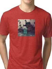 ::: { THE ZOMBIE } ::: Tri-blend T-Shirt