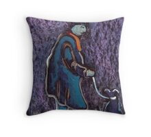 One man and his dog Throw Pillow