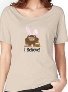 I Believe! Easter Bigfoot Women's Relaxed Fit T-Shirt