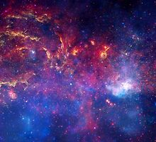 Hubble Space Telescope Print 0025 - NASA's Great Observatories Examine the Galactic Center Region  - hs-2009-28-b-full_jpg by wetdryvac