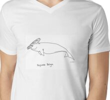 Baguette Beluga Mens V-Neck T-Shirt